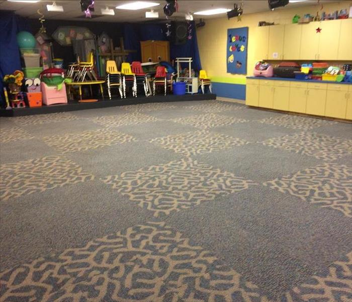 Storm causes water damage to a Daycare in Chicago, IL Before