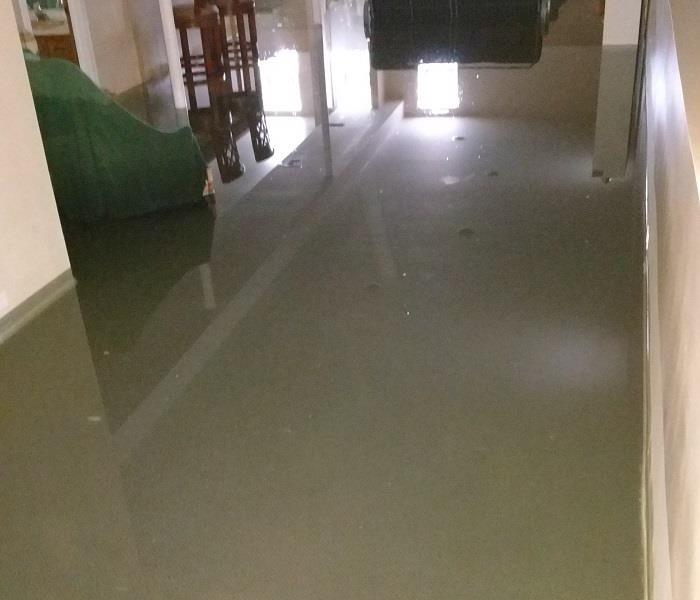 Basement inundaded during a storm in Chicago, IL  Before