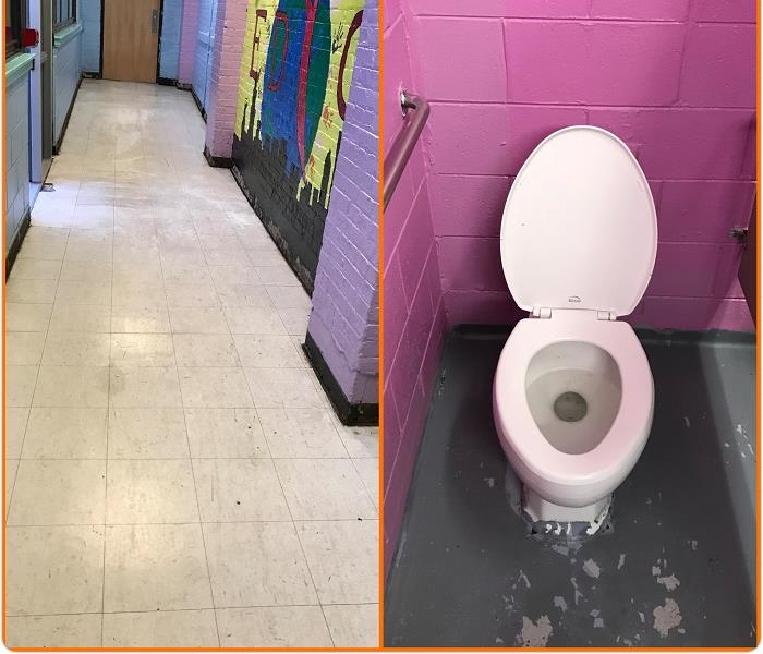 Commercial Sewage Loss at a local Youth Center. After