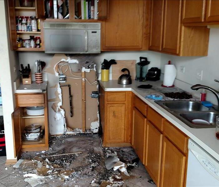 Kitchen fire in Plainfield, IL  Before